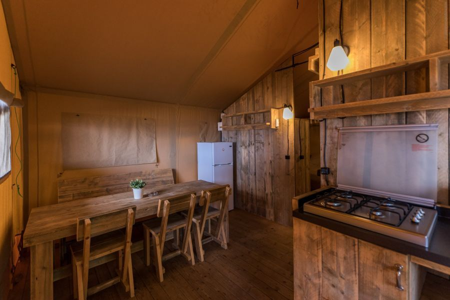 Camping Caballo de Mar Glamping Safari Dining room Glamping on the beachfront