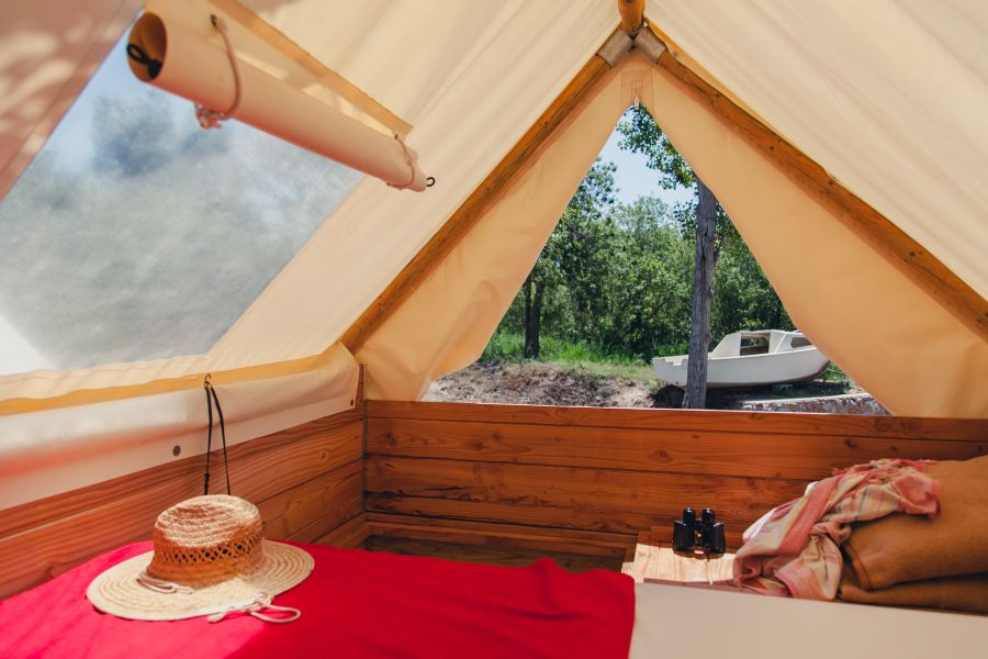 Camping Senia Riu Exterior Tienda Bivac Escapada romantica